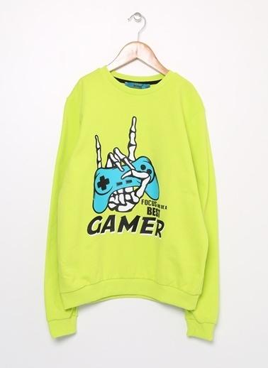 Funky Rocks Sweatshirt Yeşil